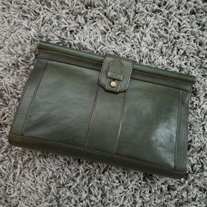 Fossil vintage Reissue leather clutch green
